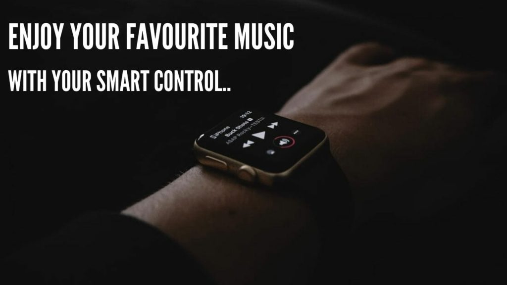 Enjoy the Music  with smartwatch
