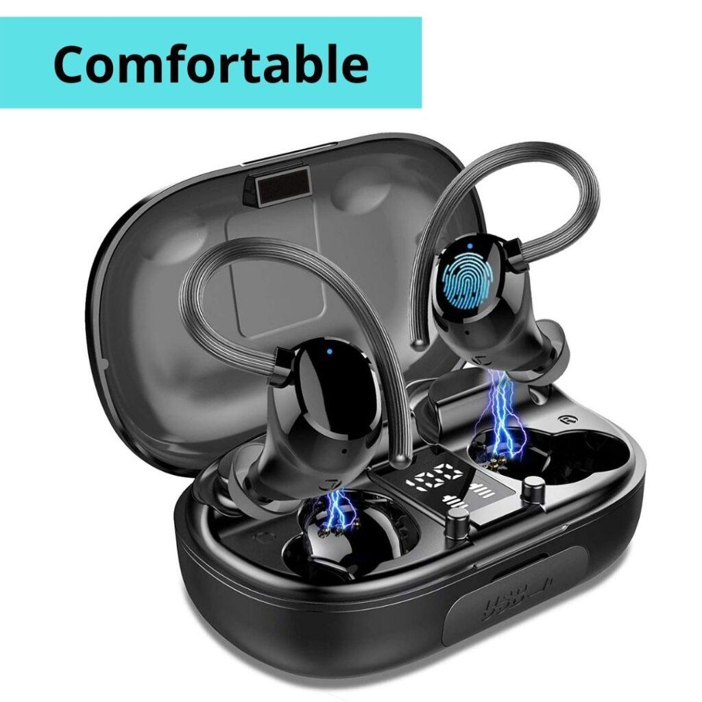 Wireless Earbuds Sports (TWS Earhooks Headset) | Wireless earphones with noise cancellation