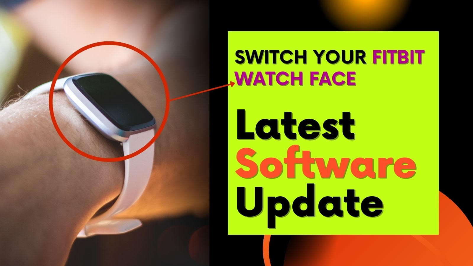 Switch Your Fitbit Watch Face