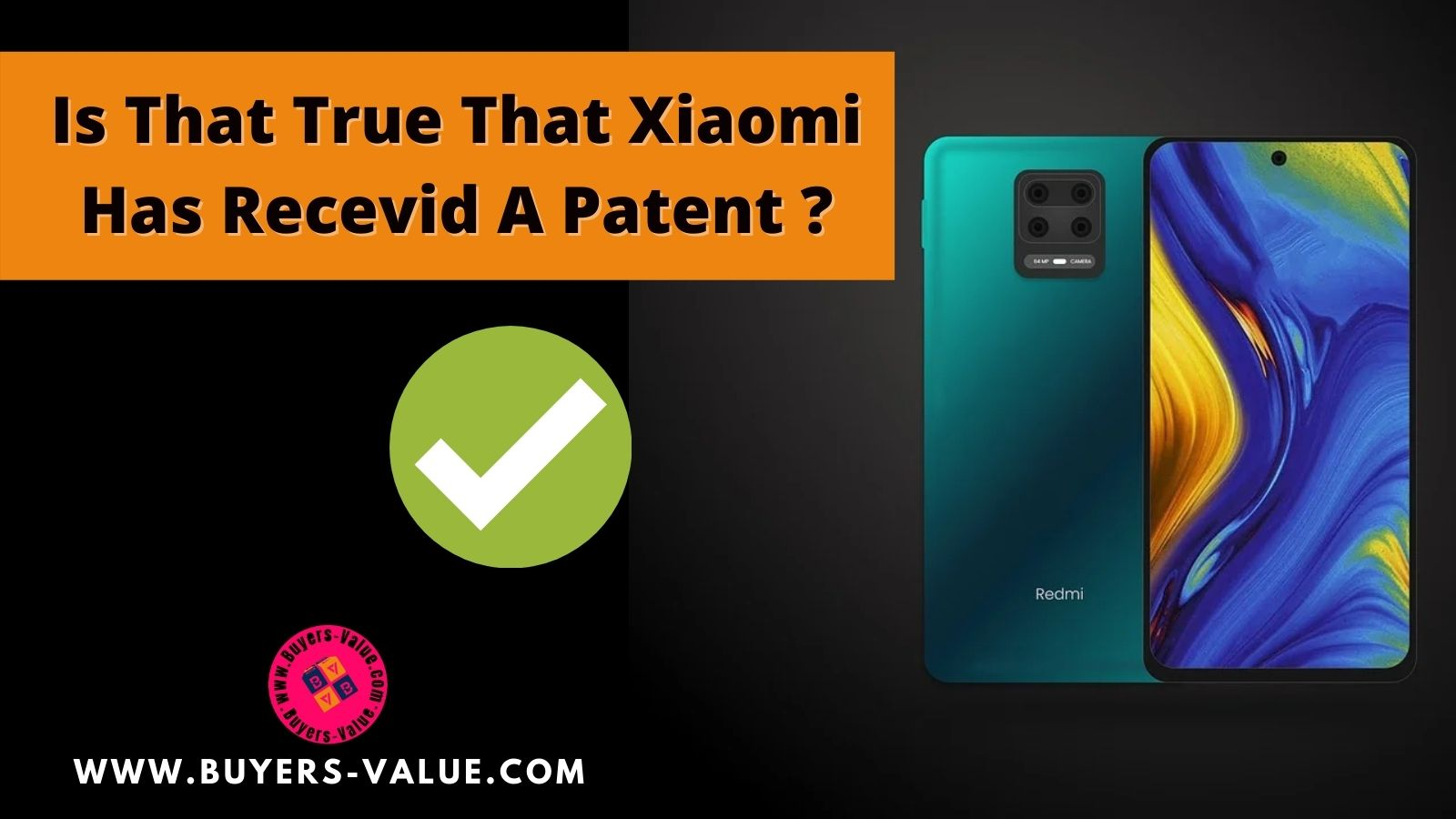 Xiaomi has received a Patent