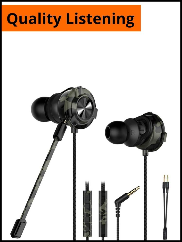 CLAW G9X Single Driver Gaming Earphones | Gaming Accessories For Battleground Mobile