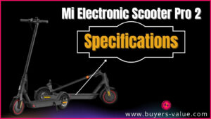 Mi Electric Scooter pro 2 specifications