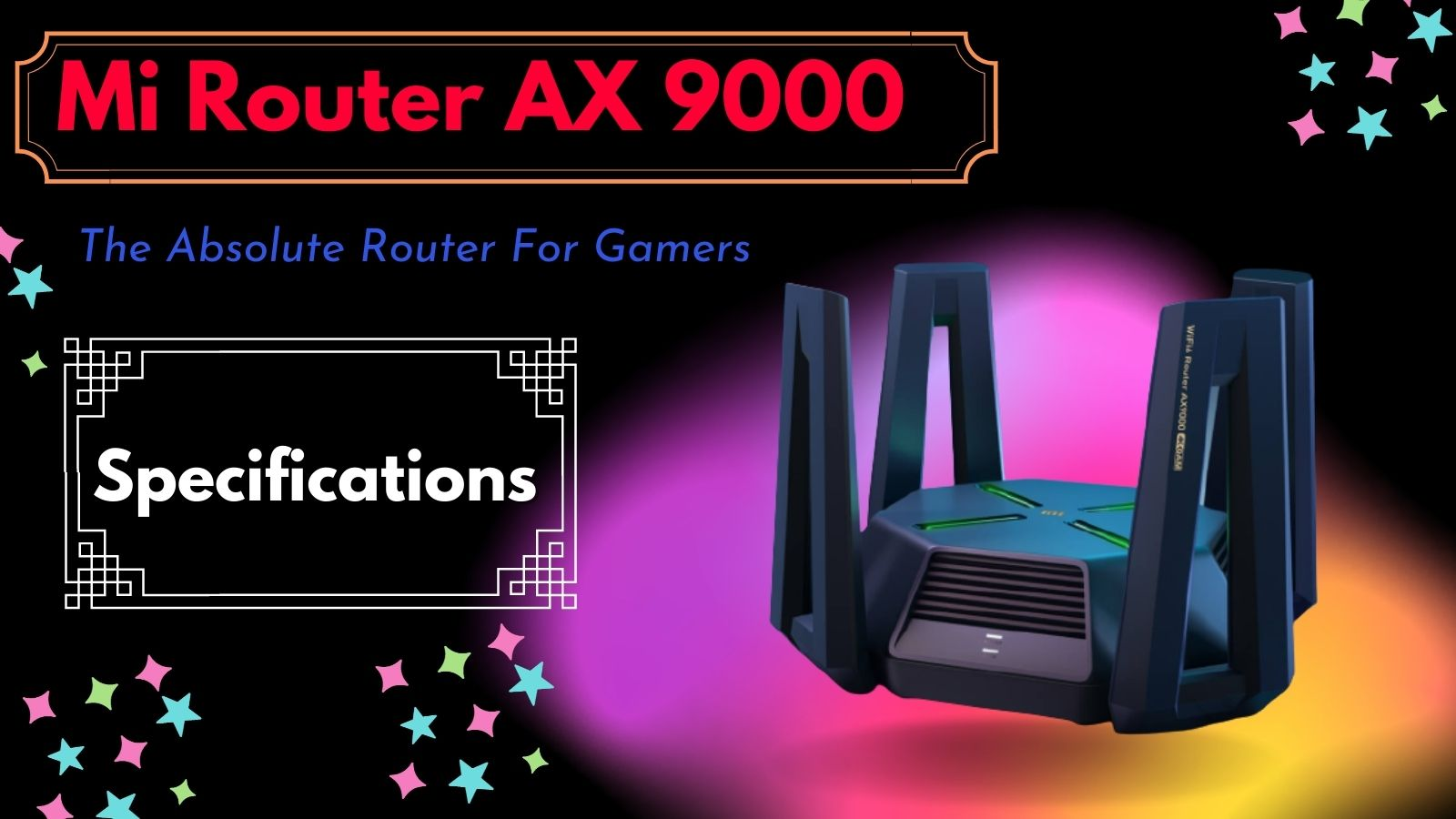 Mi Router AX 9000 Specifications